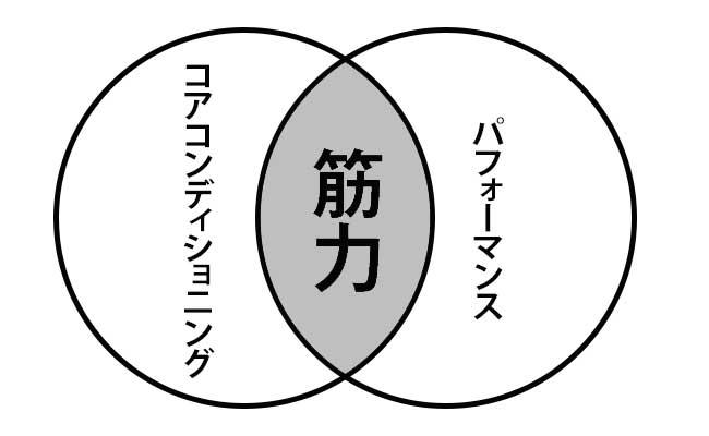 コアコンディションと筋力の関係図